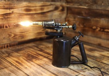 German WWII Blow Torch by E. Hähnel – Table Lamp