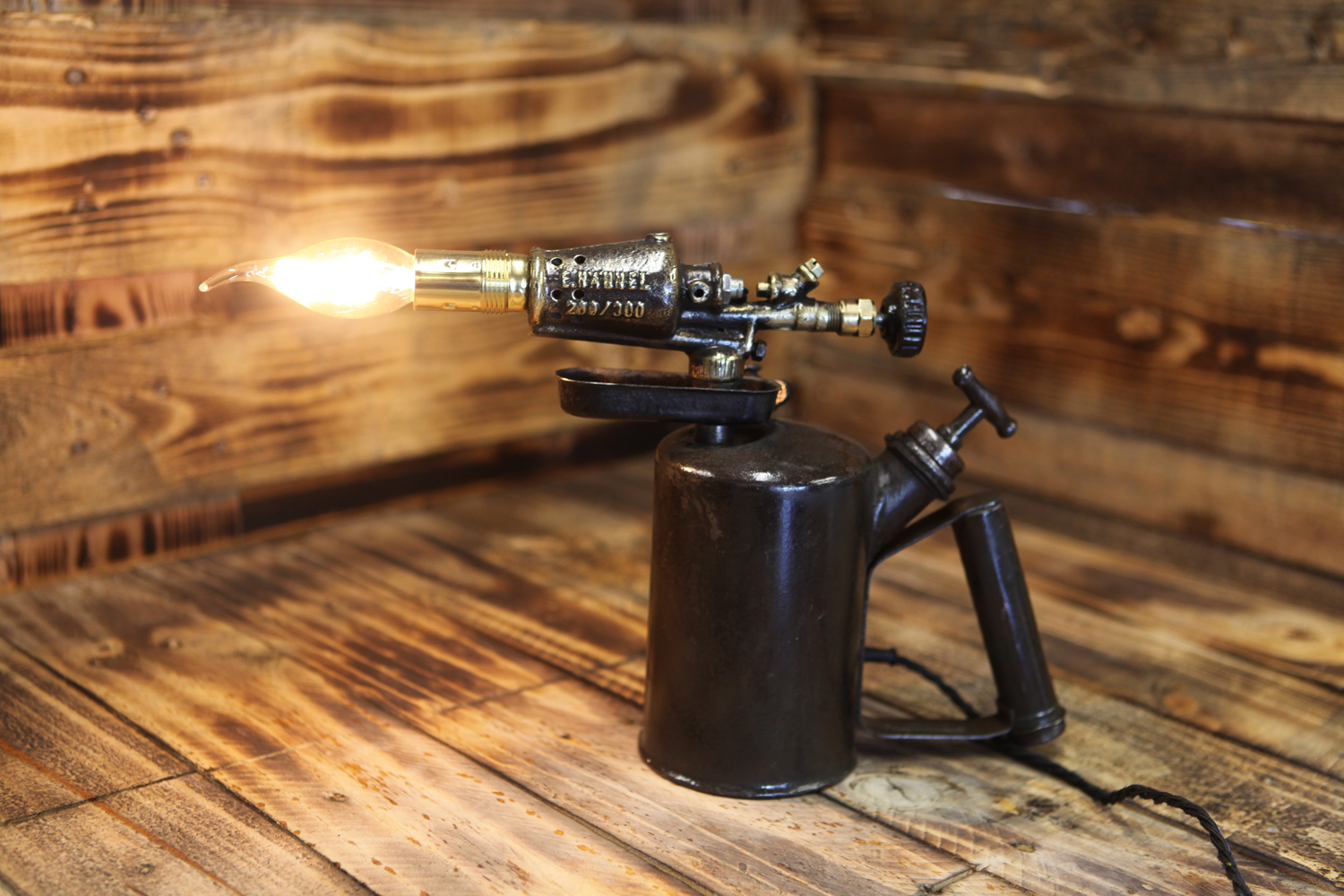 German Wwii Blow Torch By E H 228 Hnel Table Lamp Silly