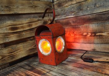 Hardun Vintage Paraffin Roadworks Light – Table Lamp
