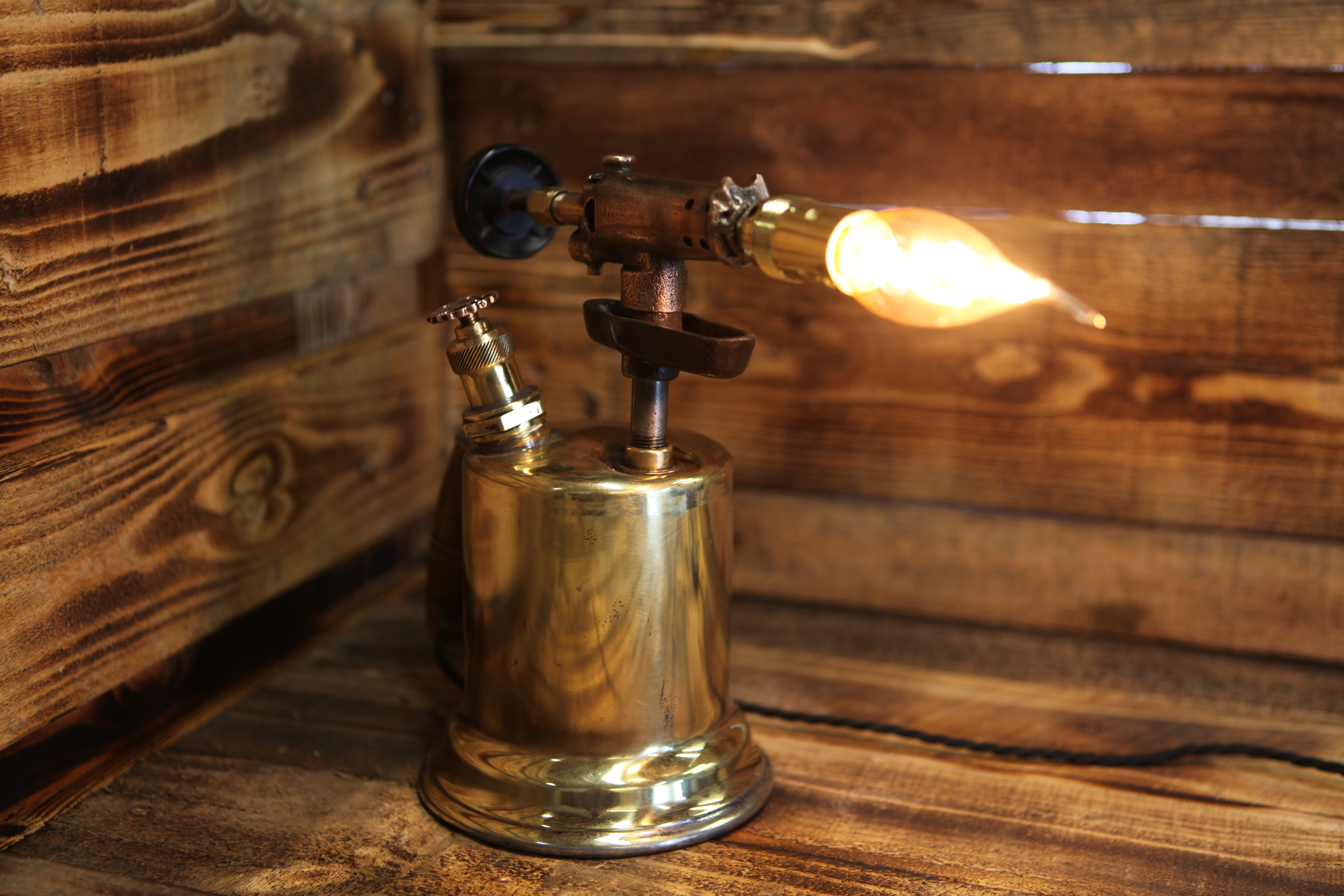Otto Bernz Brass Blow Torch Lamp Silly Goat Creations